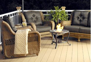 Drinks by the Fire: Patio Furniture
