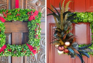 10 DIY Holiday Wreath Ide