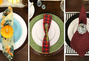 3 Holiday Place Settings