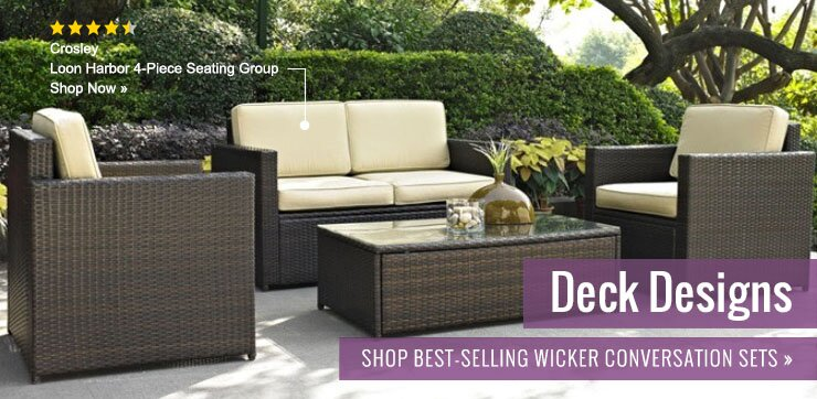 Wicker patio furniture wayfair for Outdoor furniture wayfair
