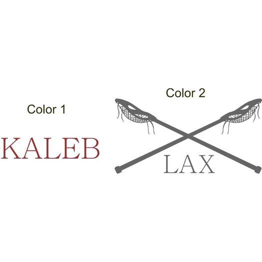 Alphabet Garden Designs Lacrosse Name LAX Vinyl Wall Decal