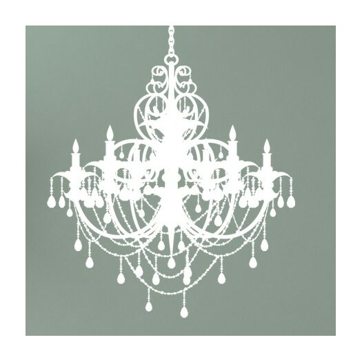 Alphabet garden designs chandelier wall decal allmodern for Alphabet garden designs