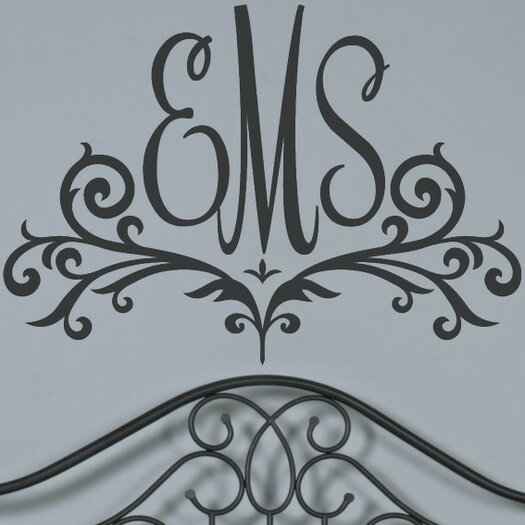 Alphabet Garden Designs Personalized Scroll Monogram Wall Decal