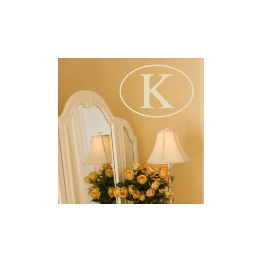 Alphabet Garden Designs Single Oval Monogram Wall Decal