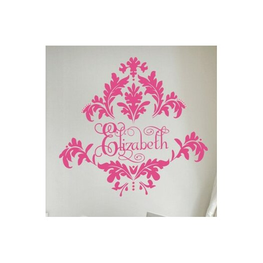 Alphabet Garden Designs Personalized Tres Chic Damask Wall Decal