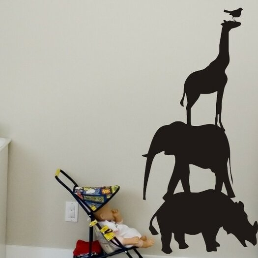 Alphabet Garden Designs Chalkboard Animals Wall Decal