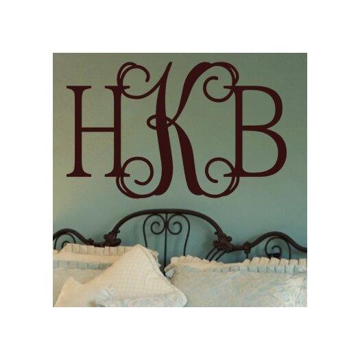 Alphabet Garden Designs Personalized Hip Chick Monogram Wall Decal