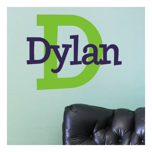 Alphabet Garden Designs Personalized Dylan's Preppy Wall Decal