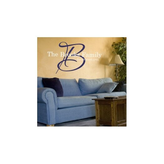 Alphabet Garden Designs Signature Family Monogram Wall Decal