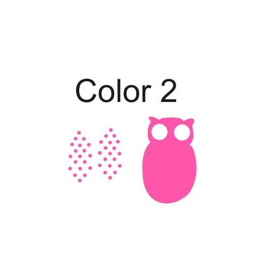 Alphabet Garden Designs Personalized Hanna's Owl Wall Decal