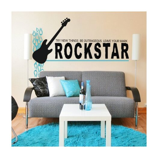 Alphabet Garden Designs Rock Star-Leave Your Mark Wall Decal