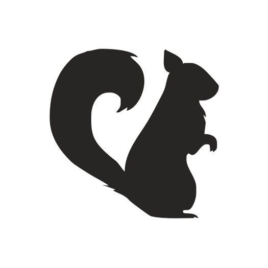 Forest Critter Chalkboard Squirrel Vinyl Wall Decal