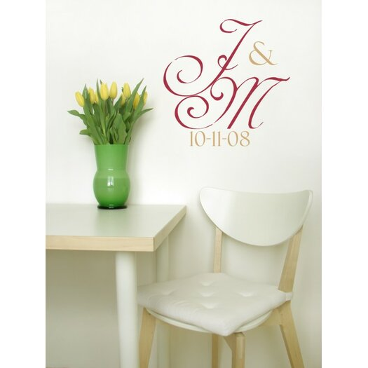 Alphabet Garden Designs Personalized Simple but Elegant Monogram Wall Decal