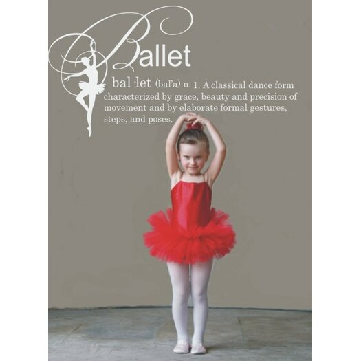 Alphabet Garden Designs Ballet Definition Vinyl Wall Decal