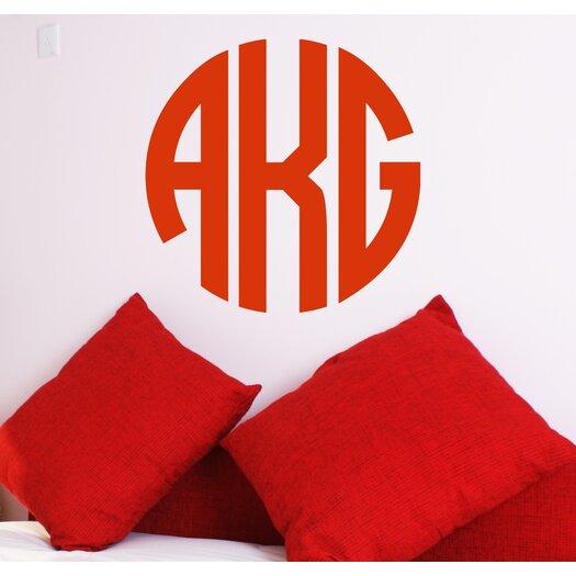 Alphabet Garden Designs Personalized Circle Monogram Wall Decal