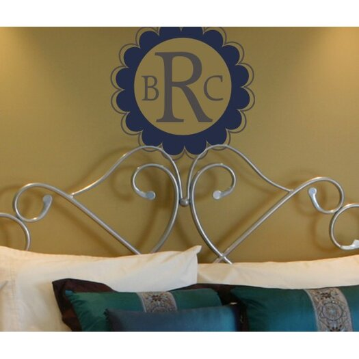 Scalloped Edge Monogram Wall Decal