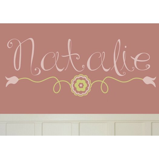Alphabet Garden Designs Personalized Natalie's Wall Decal