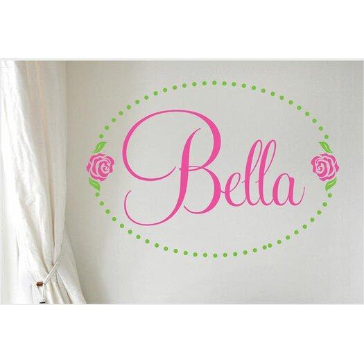 Alphabet Garden Designs Bella Rose Personalized Vinyl Wall Decal