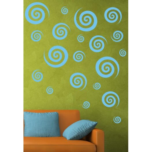 Alphabet Garden Designs Swirly Swirls Set Vinyl Wall Decal