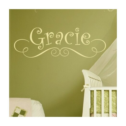 Alphabet Garden Designs Gracie's Personalized Wall Decal