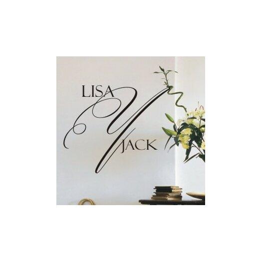 Alphabet Garden Designs Personalized Delightful Monogram Wall Decal