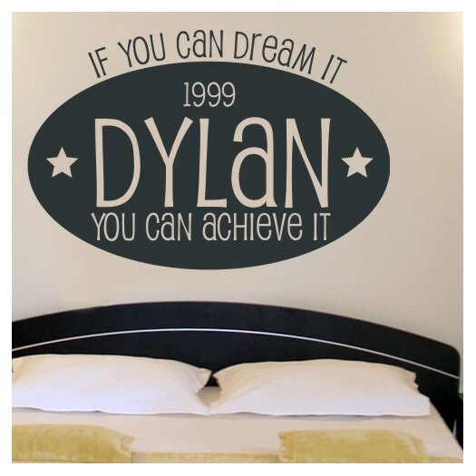 Alphabet Garden Designs Personalized Dream Big Wall Decal
