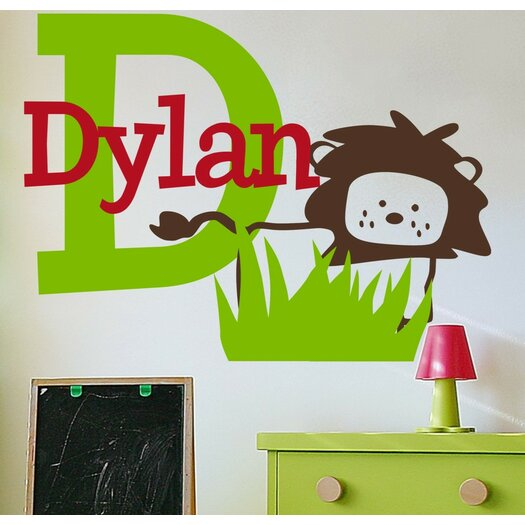 Alphabet Garden Designs Personalized Dylan's Lion Wall Decal