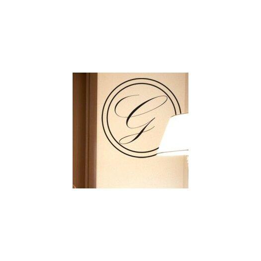 Alphabet Garden Designs Timeless Monogram Wall Decal