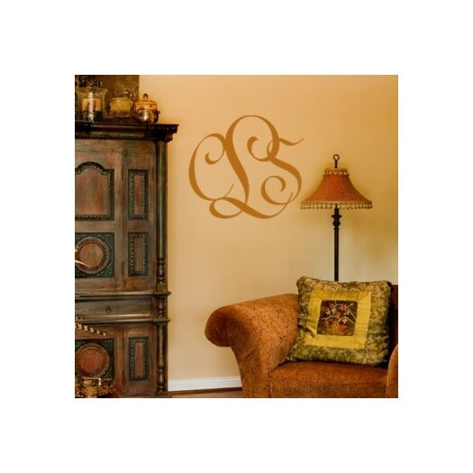 Alphabet Garden Designs Personalized Entwined Monogram Wall Decal