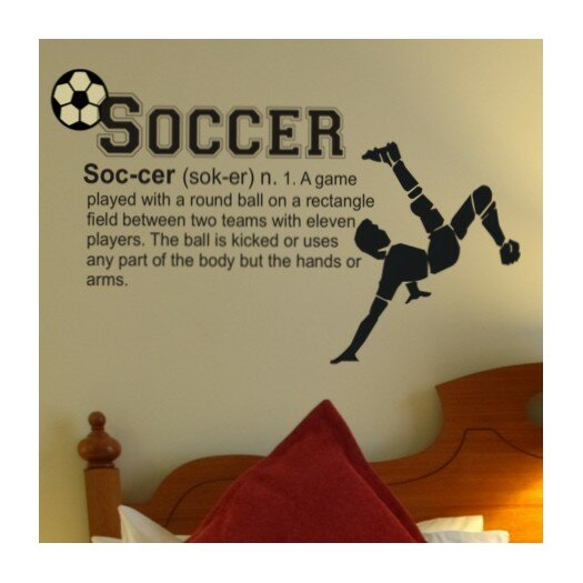 Alphabet Garden Designs Soccer Definition Wall Decal