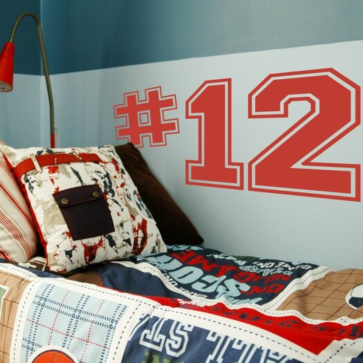 Alphabet Garden Designs Personalized Varsity Numbers Wall Decal