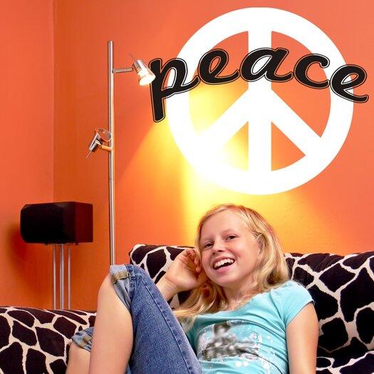 Alphabet Garden Designs Peace Sign Wall Decal