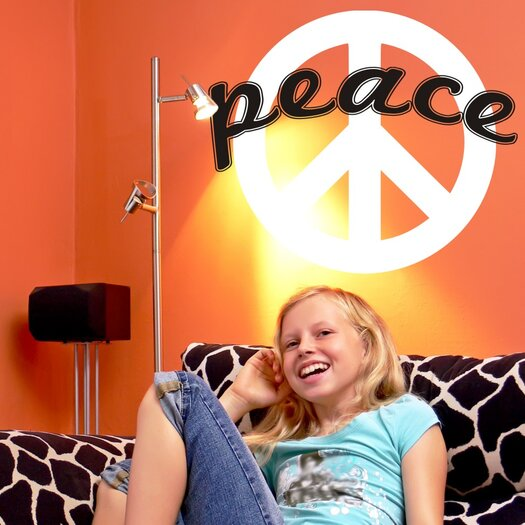 Alphabet Garden Designs Peace Sign Wall Decal