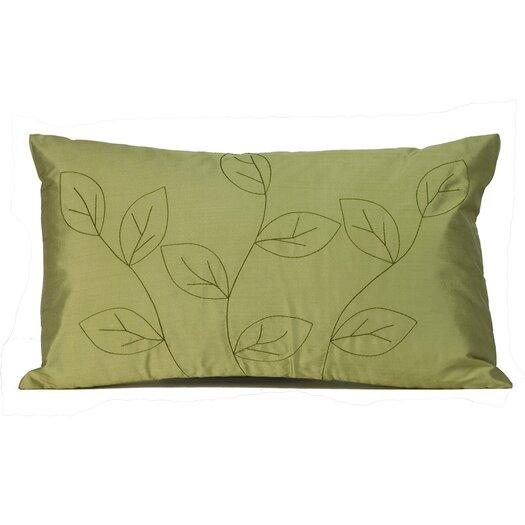 Jiti Leaves Silk Decorative Pillow