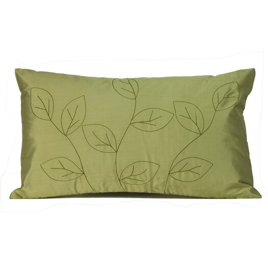 Jiti Leaves Silk Decorative Pillow