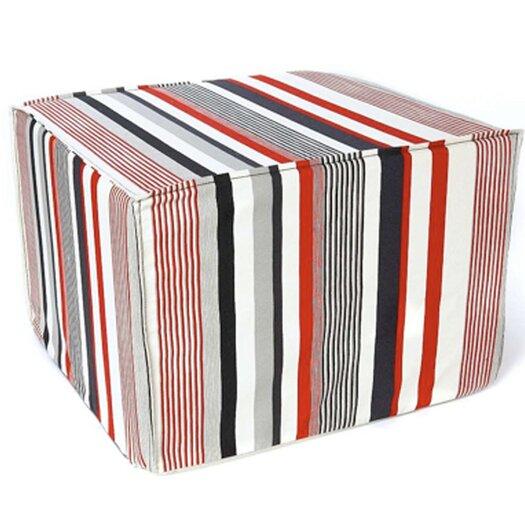 Jiti Siggi Stripes Cotton Cube Ottoman