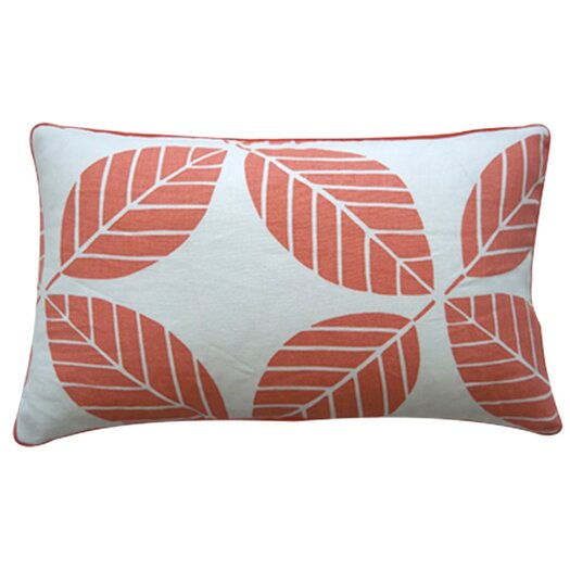 Jiti Tiki Leaves Linen Pillow