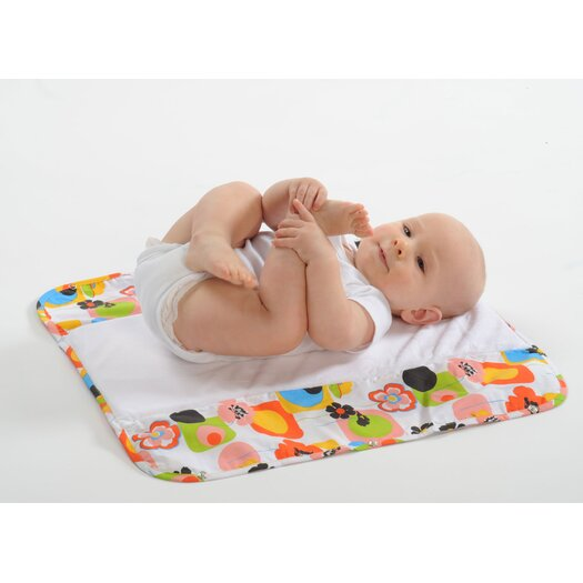 The Plush Pad Memory Foam Changing Pad in Poppy
