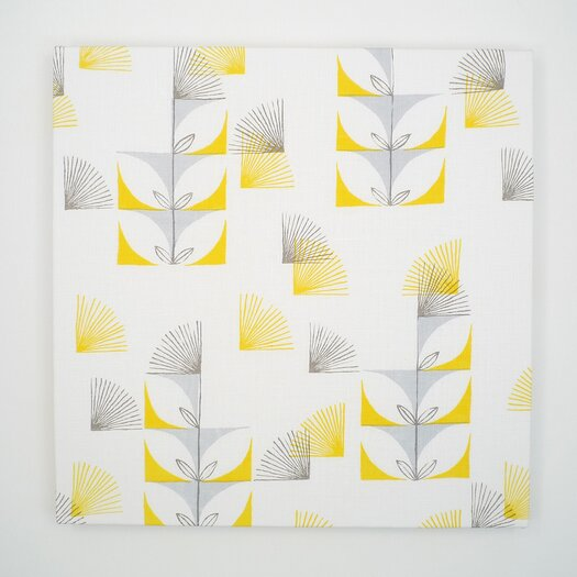 threesheets2thewind Fugi Floral Textile Painting Print on Canvas