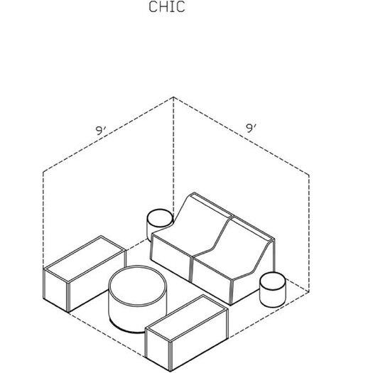 La-Fete Chic 7 Piece Cabana Seating Group