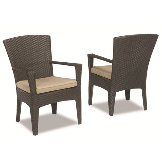 Sunset West Malibu Dining Arm Chair with Cushion