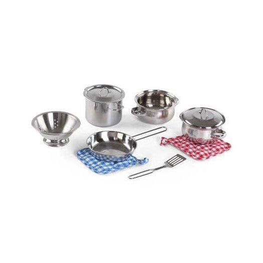 Step2 Cooking Essentials 10 Piece Stainless Steel Set