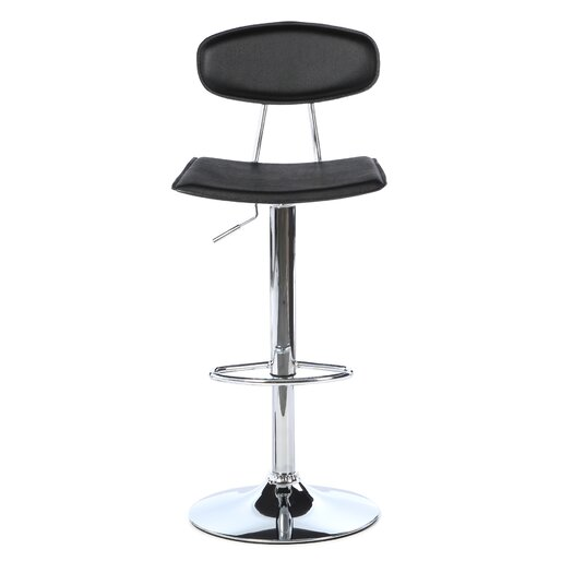 LumiSource Vector Adjustable Height Swivel Bar Stool