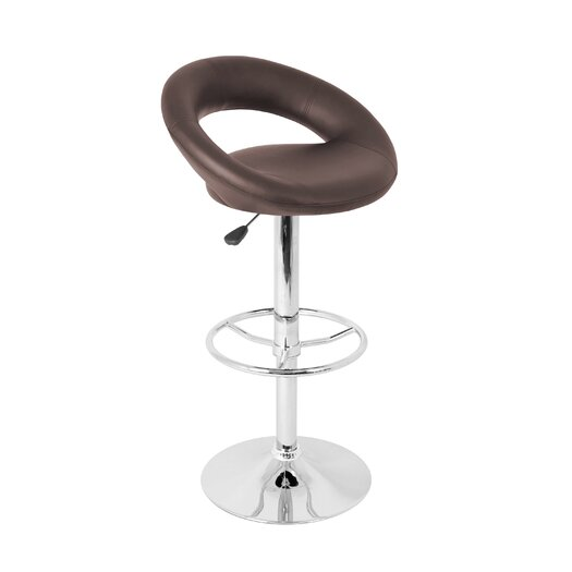 LumiSource Adjustable Height Bar Stool with Cushion