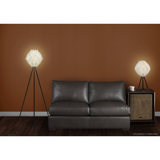 LumiSource Fotia Floor Lamp in Black