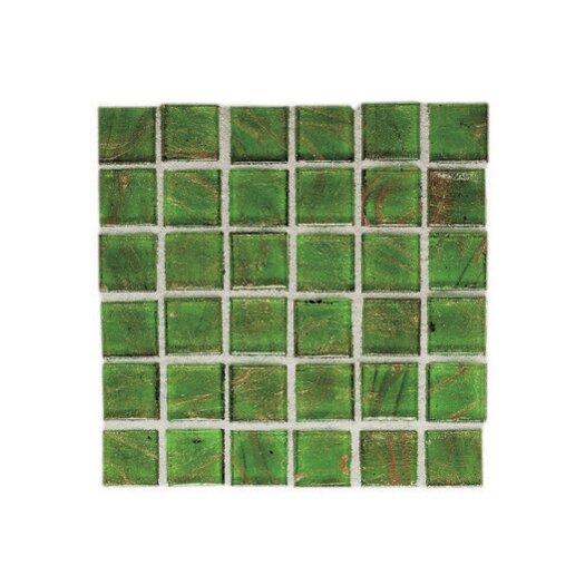 "Daltile Elemental Glass 3/4"" x 3/4"" Mosaic Tile in Sour Apple"