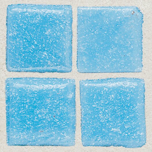 "Daltile Sonterra Collection 1"" x 1"" Opalized Mosaic Tile in Acapulco Blue"