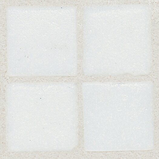 "Daltile Sonterra 1"" x 1"" Glass Semi-Gloss Opalized Mosaic Tile in Oyster White"