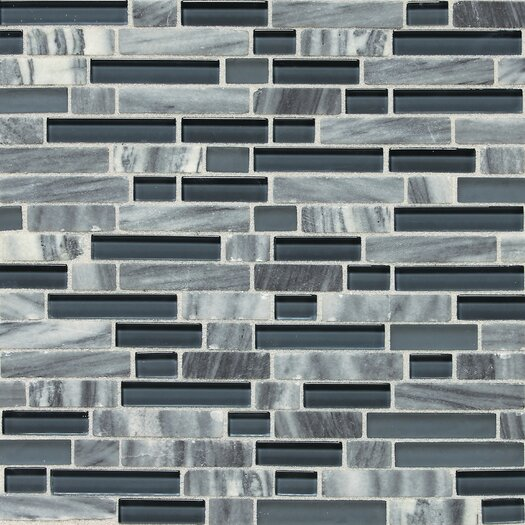 Daltile Stone Radiance Random Sized Mosaic Tile Blend in Glacier Gray Marble