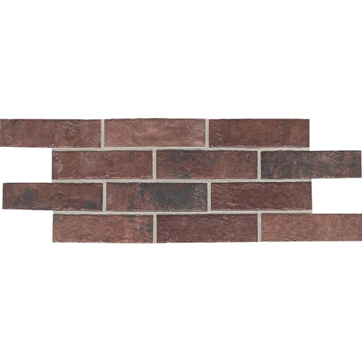 "Daltile Union Square 2-1/4"" x 8"" Brick Field Tile in Courtyard Red"